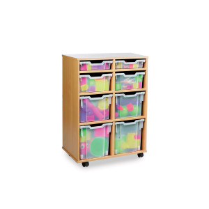 Variety Mobile 8 Tray Clear Storage Unit