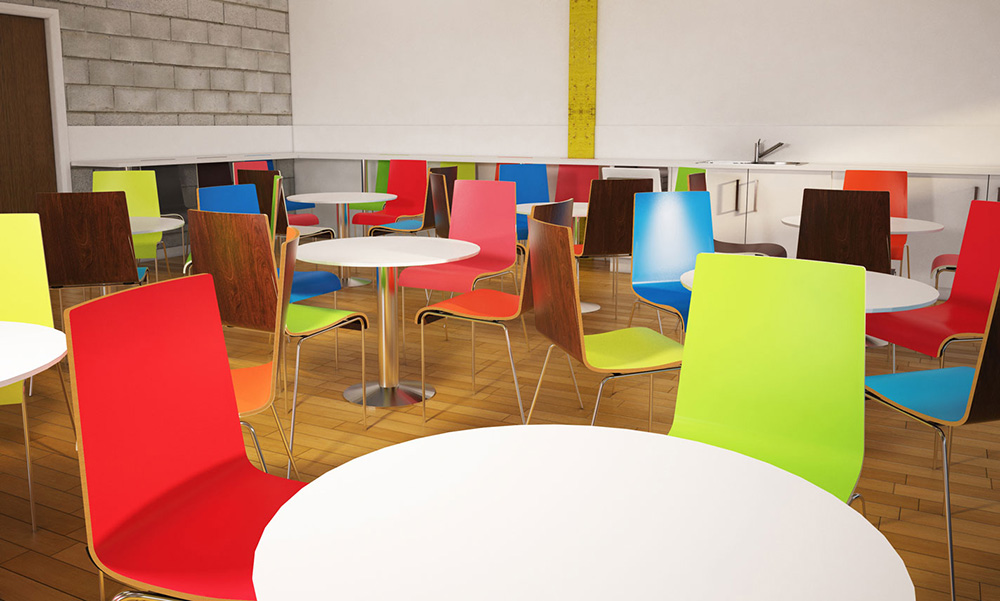 Zero 2-tone cafe furniture