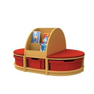 Book & Seat Storage Island